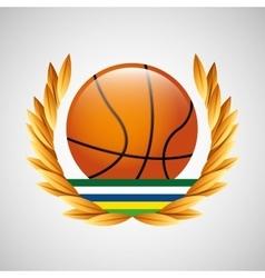 Baseball olympic games emblem vector