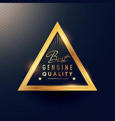 Best genuine quality beautiful golden badge label vector