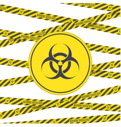 biohazard sign and tape vector image