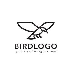 bird logo design vector image