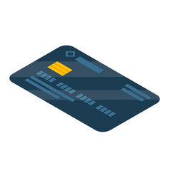 black credit card icon isometric style vector image