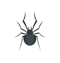 black house spider icon flat style vector image