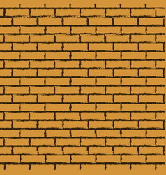 Black outline brick wall vector