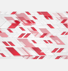 bright red tech geometric abstract background vector image