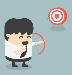 Businessman archer vector