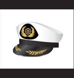 Captains hat vector