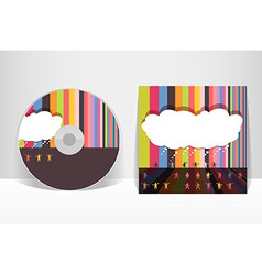 CD cover design template EPS 10 transparencies vector image