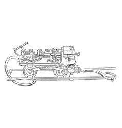 coal cutting machine vintage vector image