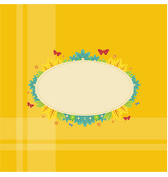 Collection frame with flower spring theme vector