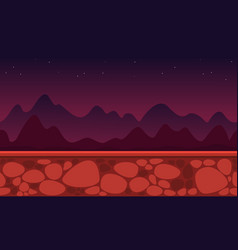 collection style game background mountain vector image