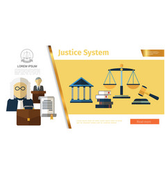 colorful judicial system concept vector image