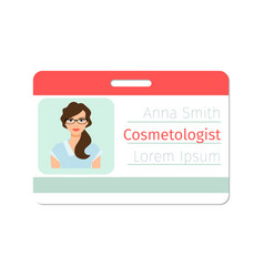 cosmetologist medical specialist badge vector image