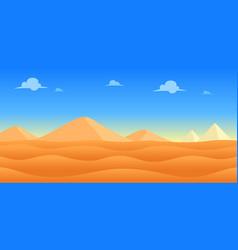 Desert day game background vector