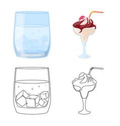 Design liquor and restaurant icon set vector