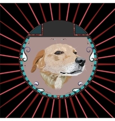 Dog in a circle vector
