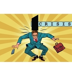 Economic policy and crisis impact on business vector