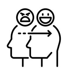 emotion control line vector image