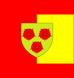 Flag of grenoble in isere of auvergne-rhone-alpes vector