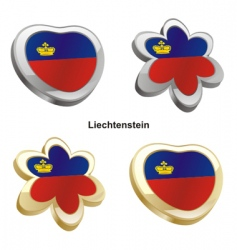flag of Liechtenstein vector image