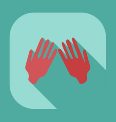 Flat modern design with shadow icons praying hands vector