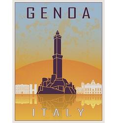 genoa vintage poster vector image