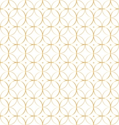 Geometric gold pattern background of circles vector image