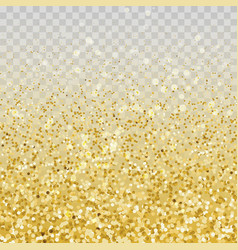 gold glitter particles vector image