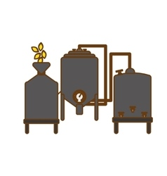 Gray beer tanks icon image design vector