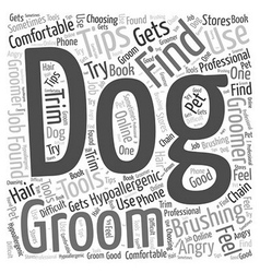 grooming and brushing tips for dogs that are vector image