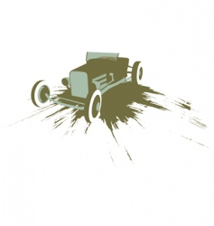 Grunge hot rod vector