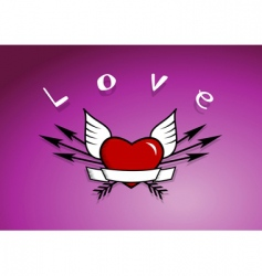 heart with arrows vector image vector image