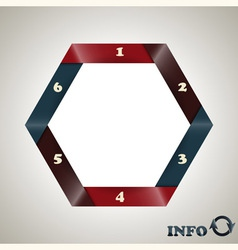 hexagon infographic template vector image