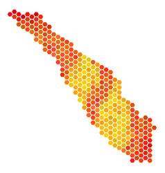 Hot hexagon sumatra island map vector