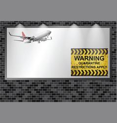 Illuminated advertising billboard quarantining vector