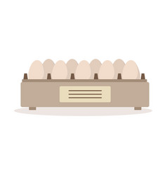 Incubator egg tray poultry breeding vector