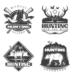 Into The Wild Emblem Set vector image