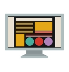 Isolated computer and website design vector