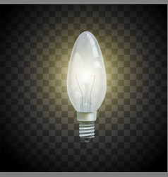 Light bulb on transparent background image vector