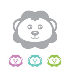 Lion head icon vector image