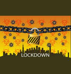 lock down - turn off city 3 vector image