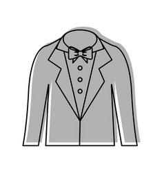 Male wedding dress icon vector