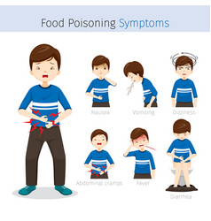 Man with food poisoning symptoms vector