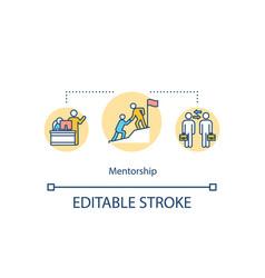 Mentorship concept icon vector