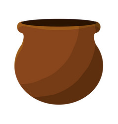 Nice flowerpot plant decoration vector