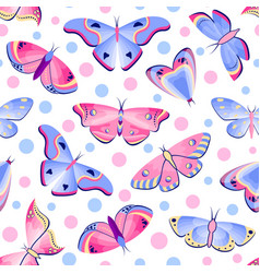 pattern with butterflies and moths vector image