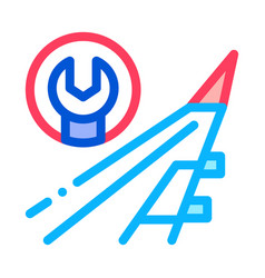 Plane wing wrench icon outline vector
