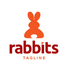 rabbits logo design vector image
