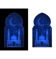 ramadan greating card vector image