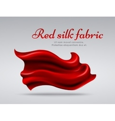 Red flying silk fabric abstact background vector image