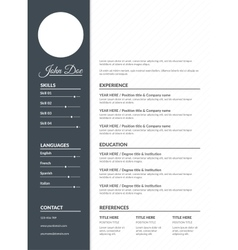 Resume template vector